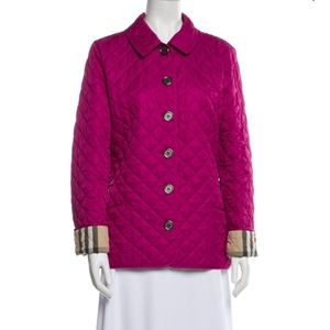 BURBERRY BRIT PINK QUILTED JACKET COAT